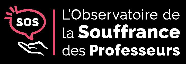 Souffrance des professeurs | Logo blanc